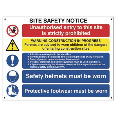 Scan Composite Site Safety Notice - FMX 800 x 600mm
