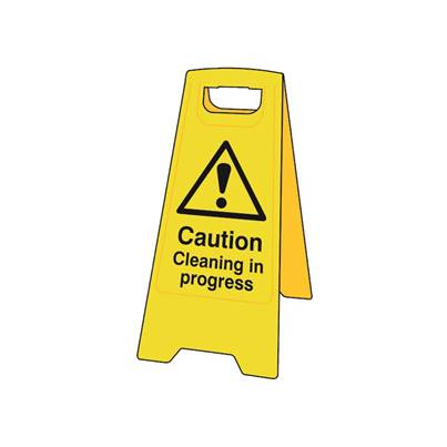 Scan Heavy-Duty 'A' Board: Caution Cleaning In Progress