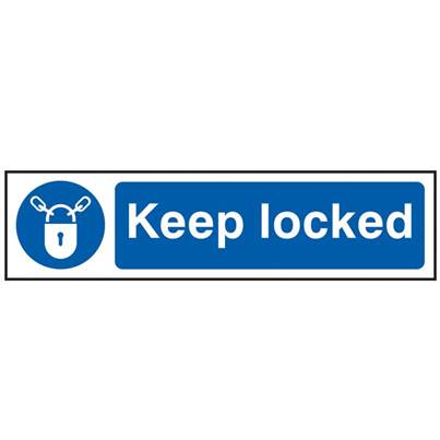 Scan Keep Locked - PVC 200 x 50mm