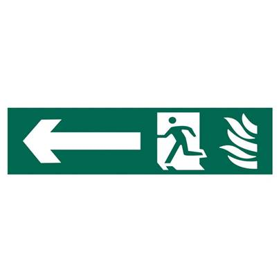 Scan Running Man Arrow Left - PVC 200 x 50mm