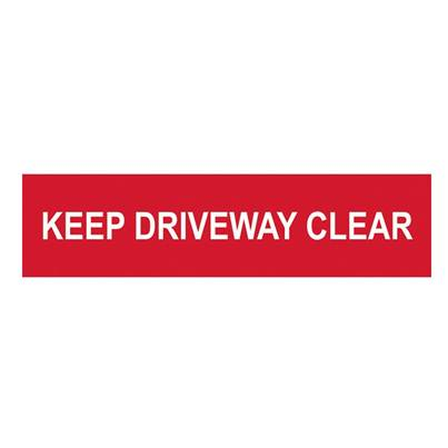 Scan Keep Driveway Clear - PVC 200 x 50mm