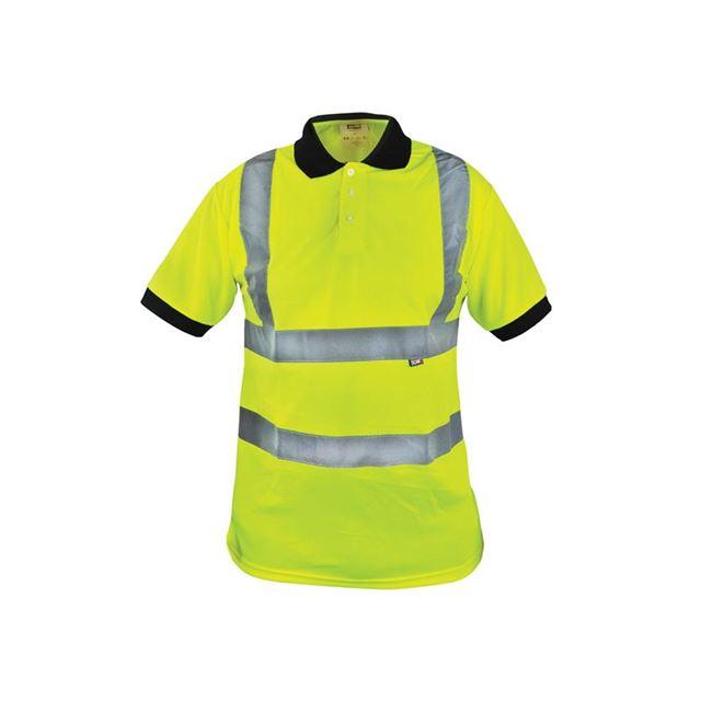 Scan Hi-Vis Yellow Polo Shirt - M (40in)