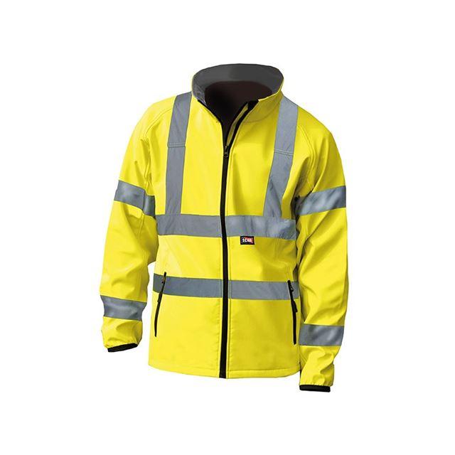 Scan Hi-Vis Yellow Softshell Jacket - M (41in)