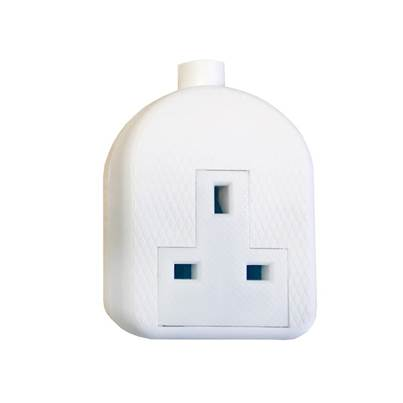 SMJ White Trailing Extension Socket