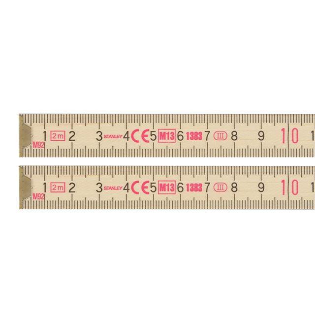 STANLEY® Wooden Folding Rule 2m