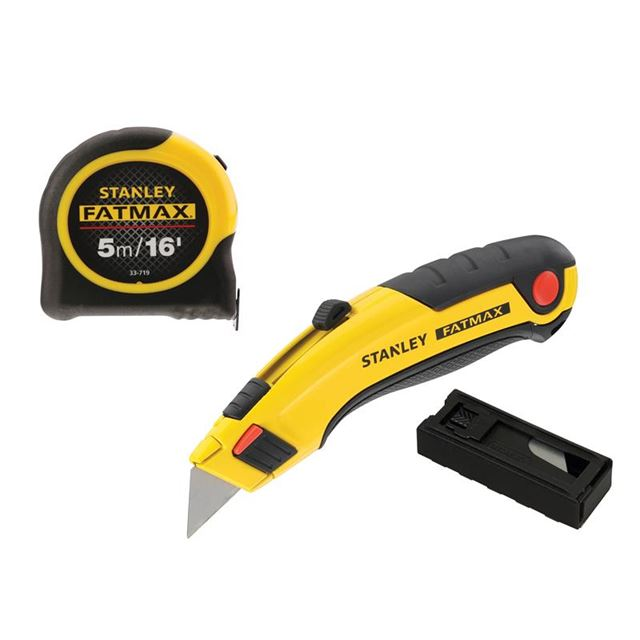 STANLEY® FatMax® Triple Pack - Tape, Retractable Knife and Blades