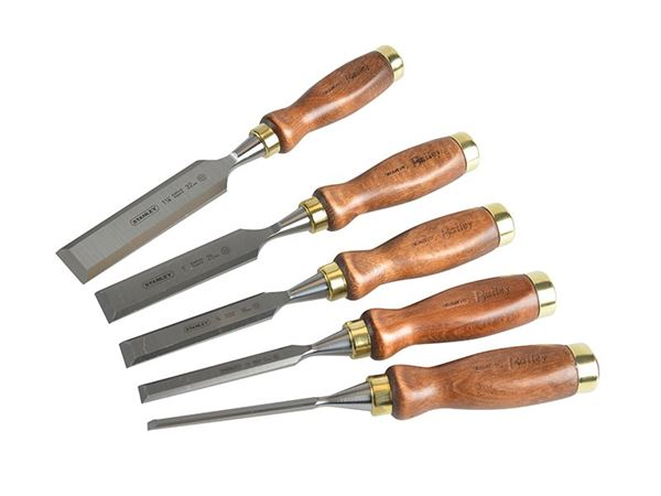 Stanley Tools Bailey Chisel Set in Leather Pouch, 5 Piece