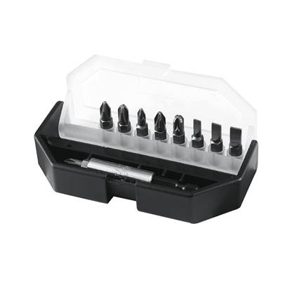 Stanley Tools Slotted/Phillips/Pozidriv Insert Bit Set, 10 Piece
