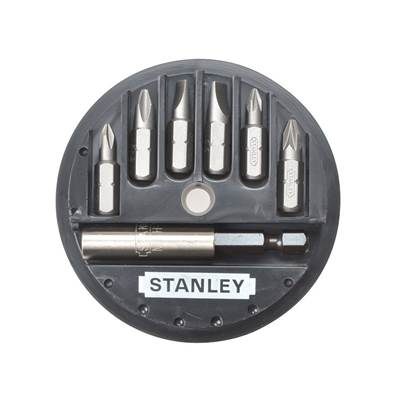 Stanley Tools Slotted/Phillips/Pozidriv Insert Bit Set, 7 Piece