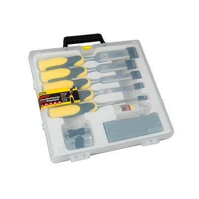 Stanley Tools DYNAGRIP™ Chisel with Strike Cap Set, 5 Piece + Accessories