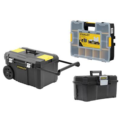 Stanley Storage Rolling Chest, Toolbox & Organiser Bundle