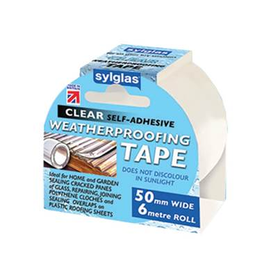 Sylglas Weatherproofing Tape 50mm x 6m Clear