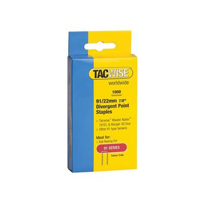 Tacwise 91 Series Divergent Point Staples