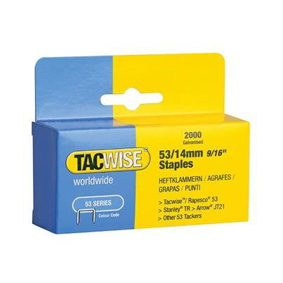 Tacwise 53 Light-Duty Staples (Type JT21  A)