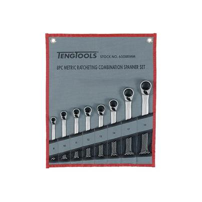 Teng Ratcheting Combination Spanner Set, 8 Piece