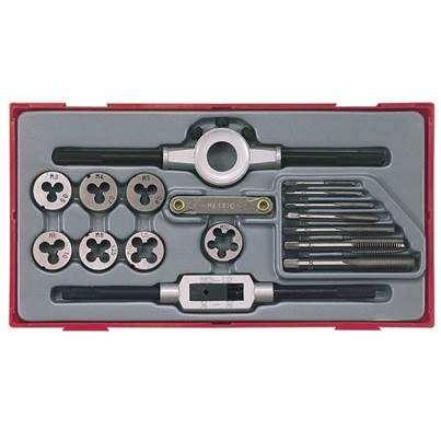 Teng TTTD17 Rethreading Tap & Die Set, 17 Piece
