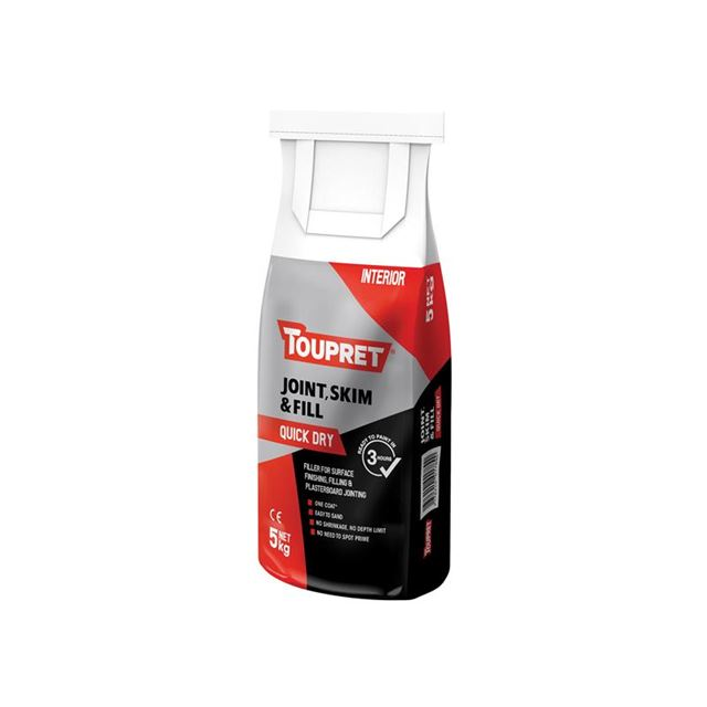 Toupret Quick Dry Joint Skim & Fill 5kg