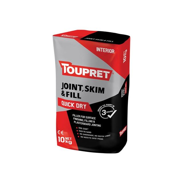 Toupret Quick Dry Joint Skim & Fill 10kg
