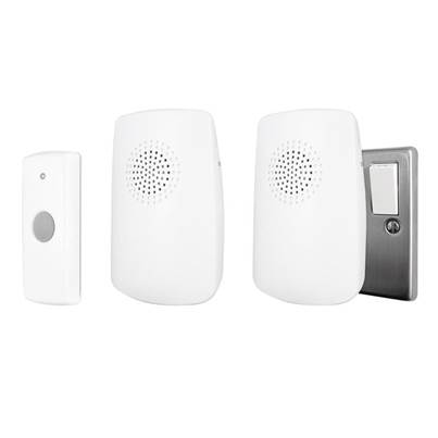 Uni-Com Portable & Plug-In Door Chime (Twin Pack)