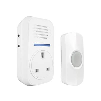 Uni-Com Smart Plug-Through Flashing Door Chime