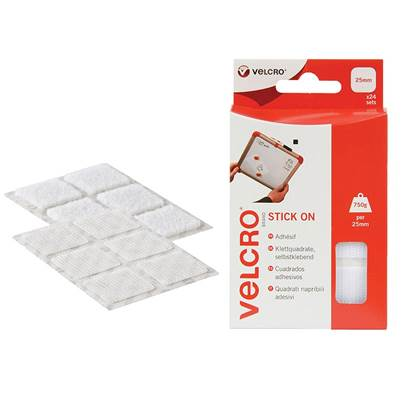 VELCRO® Brand Hook & Loop Stick On Square