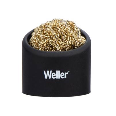 Weller Brass Wire Sponge Cleaner with Holder
