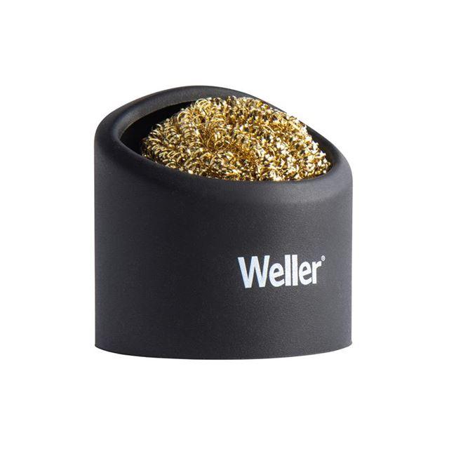 Weller Brass Wire Sponge Cleaner with Holder