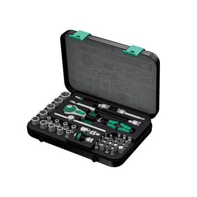 Wera Zyklop SA 2 Ratchet & Socket Set of 42 Metric 1/4in Drive