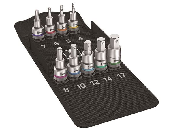 Wera 8740 C HF 1 Zyklop Bit Socket Set 1/2in Drive Holding Function, 9 Piece