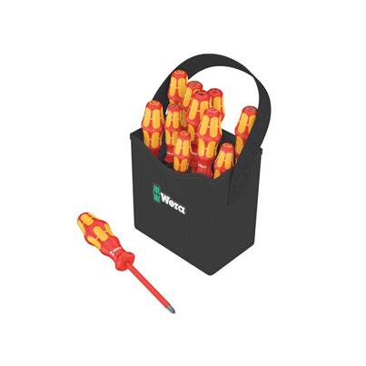 Wera Kraftform Plus VDE 2go 100 Screwdriver Set, 12 Piece