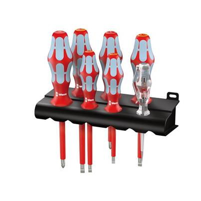 Wera Kraftform Plus VDE Stainless Steel Screwdriver Set, 7 Piece