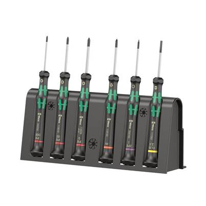 Wera 2050/6 Kraftform Micro Screwdriver Set, 6 Piece