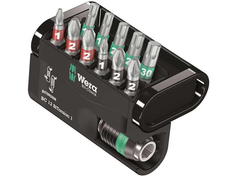 Wera Bit-Check 12 BiTorsion 1 Set, 12 Piece