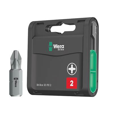 Wera Bit-Box 20 H Extra Hard Bits PH2 x 25mm, 20 Piece