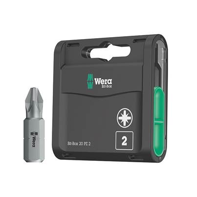 Wera Bit-Box 20 H Extra Hard Bits PZ2 x 25mm, 20 Piece