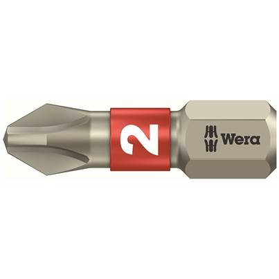 Wera Stainless Steel Phillips Bits TS Torsion