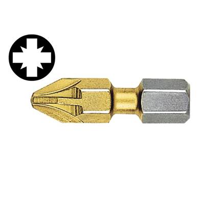 Witte Pozidriv 1pt Titanium Coated Bits (Strip of 10) 25mm