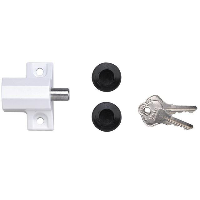 Yale Locks P114 Patio Door Lock Grey Finish Visi-pack
