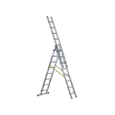 Zarges D-Rung Combination Ladder, 3-Part