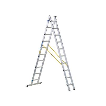 Zarges D-Rung Combination Ladder, 2-Part