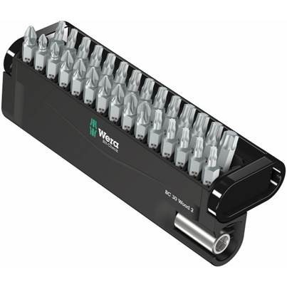Wera WER057432 Bit-Check 30 Wood 2 Screwdriver Bit Set & Holder PH/PZ/TX