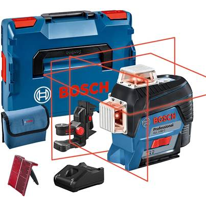 Bosch GLL3-80C Line Laser in L-BOXX with 1 x 2.0 Ah Li-ion battery, accessory set