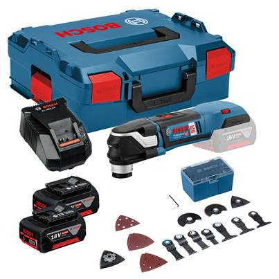 Bosch GOP18V-28 Professional Starlock Plus 18 Volt Cordless Multi-Cutter 2 x 5.0Ah Batts Kit