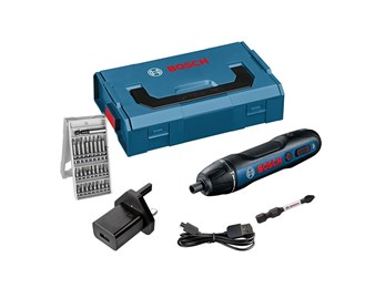 Bosch GO 3.6V Screwdriver with 25-piece Bit Set, USB Charger & L-Boxx Mini