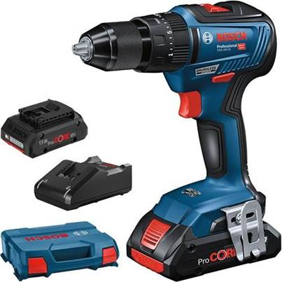 Bosch GSB18V-55 18V Brushless Combi Drill with 2x 4.0Ah ProCore Batteries