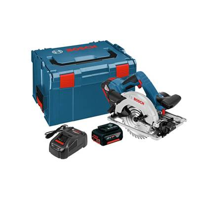 Bosch GKS18V-57G Professional 165mm Cordless Circular Saw with 2 x 5.0Ah Batteries + 1 x 4.0Ah ProCORE Battery