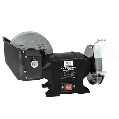 "SIP 07576 8"" x 6"" Wet & Dry Trade Bench Grinder"