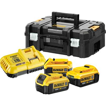 Dewalt BATTERY KIT WITH CHARGER AND CASE DCB118 & DCB182 X3