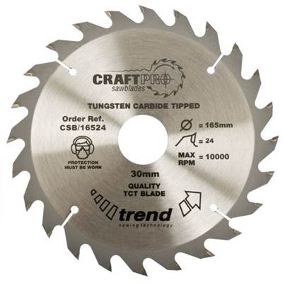 Trend Craft saw blade 184mm x 24 teeth x 30mm