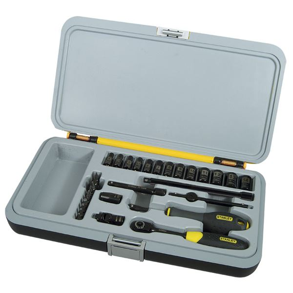 Stanley Tools 1-94-661, 30 Pieces Socket Set 1/4 in Maxi Drive Drive